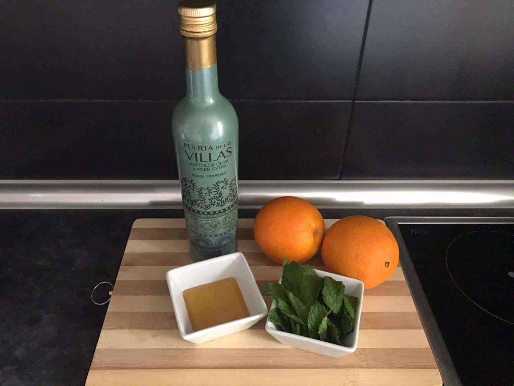 Ingredientes Naranja con AOVE